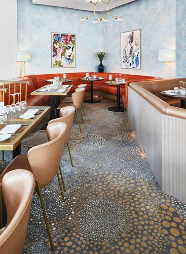 D&D London commissioned Brintons to design bespoke carpets for the Aster restaurant
