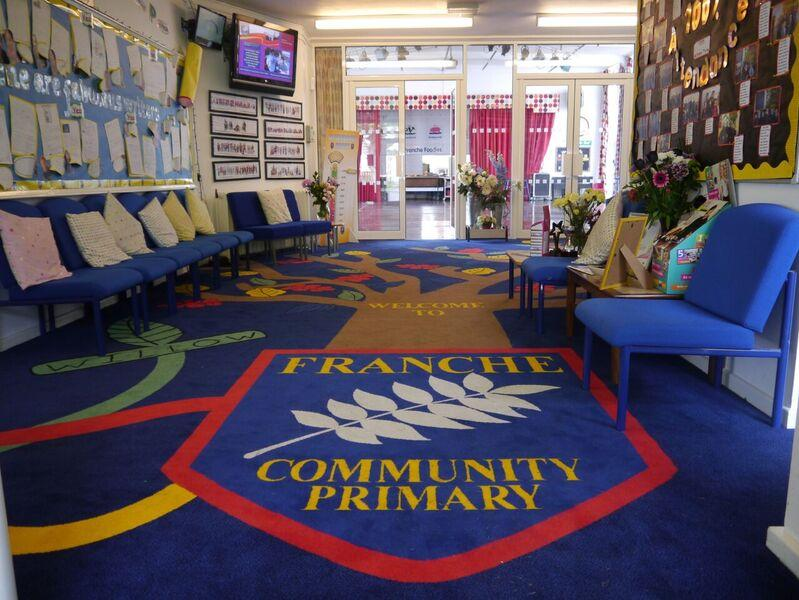 Franche Community School In Kidderminster Worcestershire Approached Brintons To Provide A Custom Carpet For Their Reception Area And Corridor