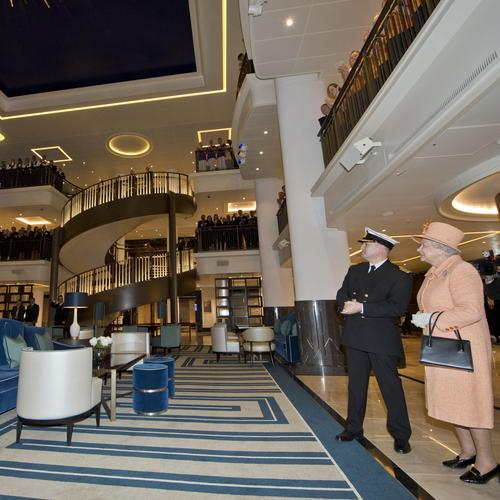 Rolling out the red carpet as Queen names luxury P&O Cruise Ship Britannia