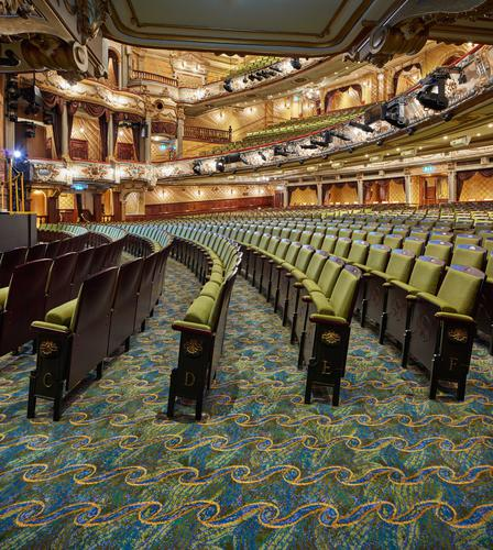Brintons collaborates with renowned interior designer Clare Ferraby to create carpets for the multi-million pound renovation of the Victoria Palace Theatre